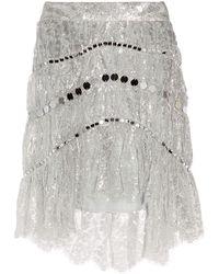 Zimmermann Knee Length Skirt - Metallic
