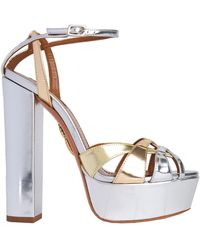 Aquazzura Sandals - Metallic