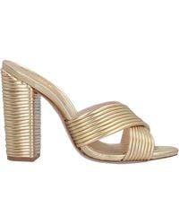 Schutz Sandals - Metallic