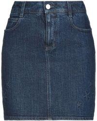 Stella McCartney Jupe en jean - Bleu