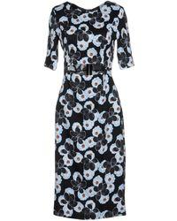 SUNO Knee-length Dress - Black