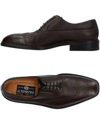 A.Testoni Lace-up Shoe - Brown