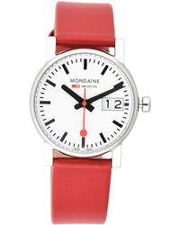Mondaine Armbanduhr - Rot