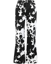 TOPSHOP Denim Trousers - White