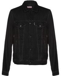 Palm Angels Denim Outerwear - Black