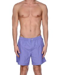 Incotex Swimming Trunks - Purple