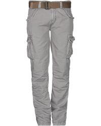 Schott Nyc Casual Trouser - Gray