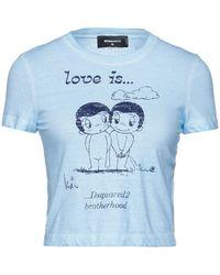 DSquared² T-shirt - Bleu
