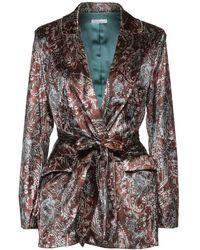 Motel Suit Jacket - Brown