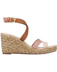 Stuart Weitzman Elsie Tricolor Espadrille Wedge Sandals - Natural