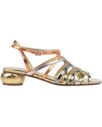 Dries Van Noten Sandals - Metallic