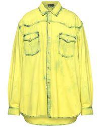 Versace Camicia jeans - Giallo