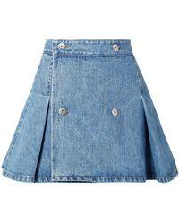 Matthew Adams Dolan Denim Skirt - Blue