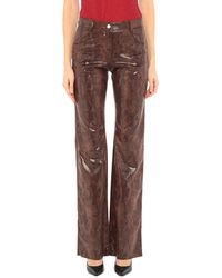 MSGM Trousers - Brown
