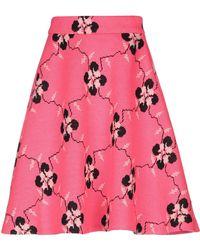Miu Miu Knitted Wool-blend Skirt - Pink