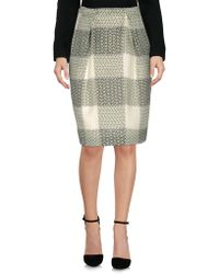 Giuliano Fujiwara Knee Length Skirt - Green