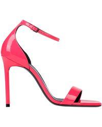 Saint Laurent - Amber High Heel Sandals - Lyst