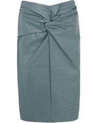 8 by YOOX Midi Skirt - Blue