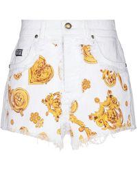 Versace Jeans Couture Short en jean - Blanc
