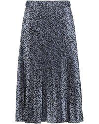 Shirtaporter Midi Skirt - Blue