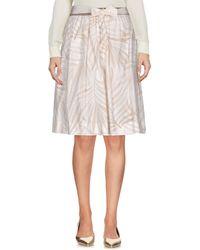Woolrich Knee Length Skirt - Natural