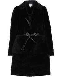 Silvian Heach Teddy Coat - Black