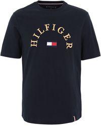 Tommy Hilfiger T-Shirt mit Logo-Stickerei - Blau