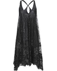Agogoa Knee-length Dress - Black