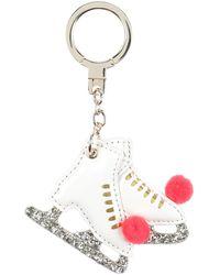 Kate Spade Key Ring - White