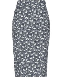 Roseanna 3/4 Length Skirt - Blue