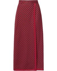 Rosetta Getty Long Skirt - Red