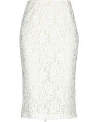 BROGNANO Midi Skirt - White