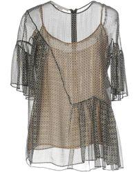 Stella McCartney - Circle star flounce blouse - Lyst