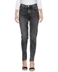 Care Label Denim Pants - Gray