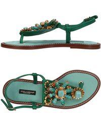 Dolce & Gabbana - Toe Strap Sandals - Lyst