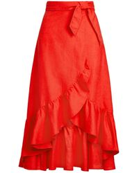 Polo Ralph Lauren 3/4 Length Skirt - Red