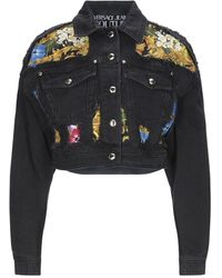Versace Jeans Couture Denim Outerwear - Black