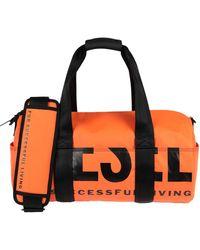 DIESEL Rubberised Logo Duffle Bag - Orange