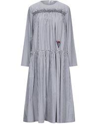 Vivetta 3/4 Length Dress - Gray