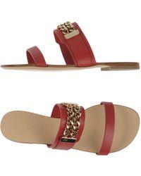 Vicini Tapeet Sandals - Red