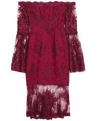 Nicholas Knee-length Dress - Red