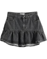 Soallure Denim Skirt - Black