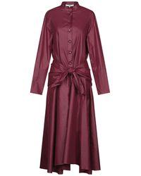 Tibi 3/4 Length Dress - Purple
