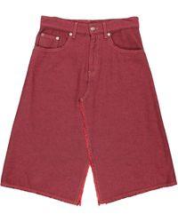 MM6 by Maison Martin Margiela Denim Skirt - Red