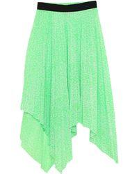 Nude 3/4 Length Skirt - Green