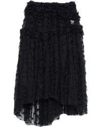 ANAЇS JOURDEN Midi Skirt - Black