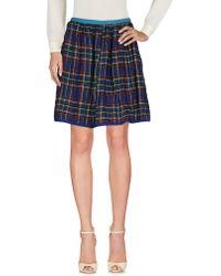 History Repeats Knee Length Skirt - Blue