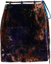 8 by YOOX Mini Skirt - Blue