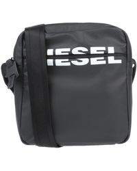 DIESEL Logo Print Tech Crossbody Bag - Black