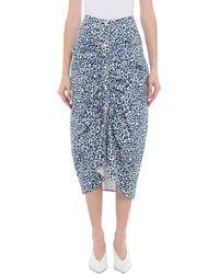 WEILI ZHENG Blue Cotton Skirt